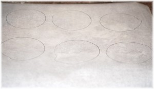 Draw Circles on Parchment Paper