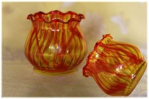 Red marble jar
