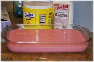 Pour into prepared pan