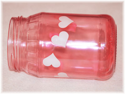 Red Jar with hearts