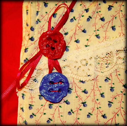 Homemade Paper Mache Buttons
