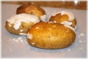 knock most of the salt off of the potatoes
