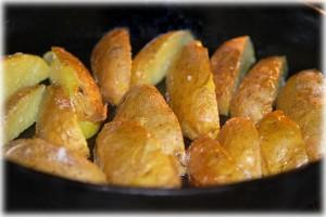 roast in a skillet