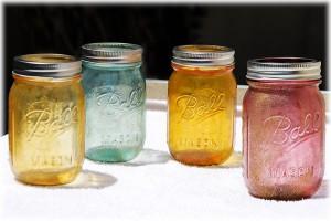 glittery jars