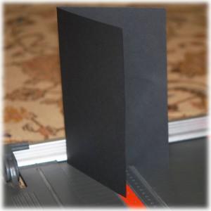 fold black cardstock